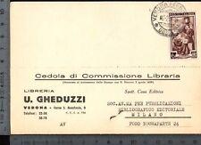 [13073] VERONA COMMERCIALE LIBRERIA GHEDUZZI _ 1954