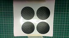 Carbone vinyl roue centre disques x 4
