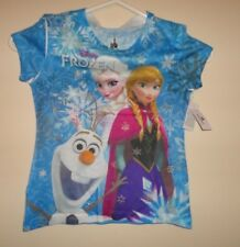 Disney Parks Frozen Girls Shirt Size XS X-Small Elsa Anna Olaf NEW-New With Tags