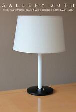 MID CENTURY MODERN LIGHTOLIER DESK LAMP! Eames Era Atomic 50s 60sWhite Black Vtg