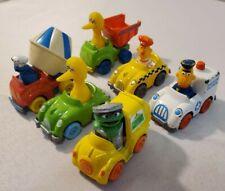 Diecast Sesame Street Vehicles Cars Hasbro Playskool 1982 Lot of 6 -VINTAGE RARE