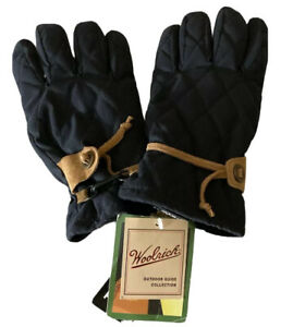 Woolrich Outdoor Guide Collection Winter Gloves-Thinsulate Black w/Suede M/L New