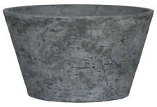 Stone lite pots with drainage holes and a water reservoir, diameter41cm, H 24cm