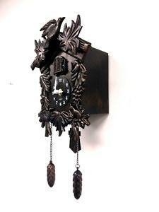 Walplus Antique Hamburg Black Forest Cuckoo Clock with Clock Mechanism Decor