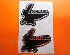 2 x Adesivi Resinati 3D Circuito Korea 6x5 cm