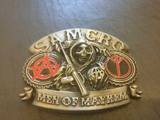 SAMCRO Sons of Anarchy New BELT BUCKLE New Metal Pewter Sam Crow