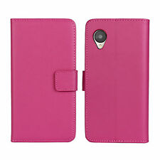Pink Leather Flip Wallet Case Cover Stand Cash Card For Nexus 5 Google LG E980