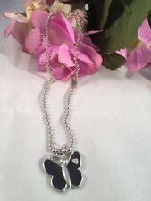 Butterfly Mood Necklace Pendant With Heart On Ball Chain AUS SELLER