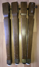 "Vintage Solid Wood Table 17"" Legs Salvage Set of 4 Tapered Upcycle Parts"