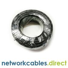 50m Cat5e UTP ESTERNO OUTDOOR Rete Ethernet Cavo LAN in Nero