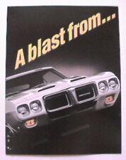 1994 Pontiac Trans Am GT 25th Anniversary 1969 sales brochure GM NOS