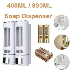 Wall Mounted Liquid Soap Dispenser Bathroom Hand Shampoo Gel Pump Shower Bottle