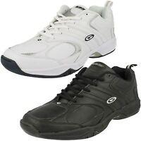 Mens Hi-Tec Black/White Leather Lace Up Trainers UK Sizes 6 - 13 Argon