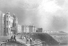 Lancashire, BLACKPOOL SANDS PROMENADE BEACH RESORT ~ 1840 Art Print Engraving