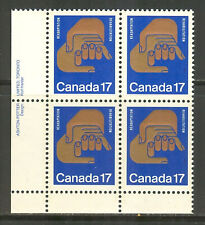 Canada #856, 1980 17c Rehabilitation Congress - Winnipeg, PB4 Unused NH