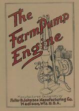 Fuller Amp Johnson Farm Pump Engine Informational Motor Book