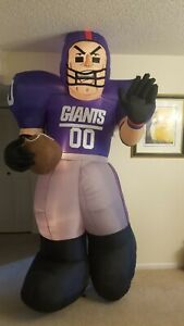 GEMMY Rare New York Giants Player Inflatsble 8FT Works!