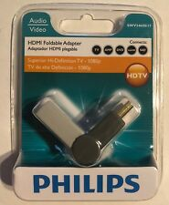 Philips HDMI Foldable Adapter 1080p Superior High Def TV/Multi 2-NEW