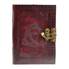 Triquetra Celtic Knots 5x7 Leather Notebook Journal Diary Linen Parchment Paper
