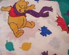 Disney Winnie the Pooh Twin Sheet Set Fitted Flat Pillowcase Tigger USA Umbrella