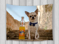 Tapestry Wall Hanging Chihuahua Drinking Soda Bedroom Living Room Decor Blanket