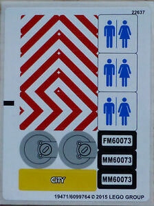 LEGO® City Aufkleber Sticker für 60073 Baustellentruck Toilette WC LKW NEU