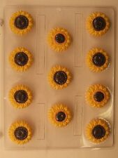 SUNFLOWER BITE SIZE CLEAR PLASTIC CHOCOLATE CANDY MOLD AO116