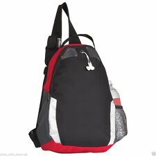MONO STRAP RUCKSACK BAG - EARPHONE PORT - TRIANGLE - SPORT COLLEGE GYM BACKPACK