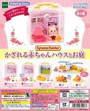 epoch Sylvanian Families Baby house and garden Gashapon 5 set mini figure toys