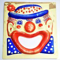 1950s Vintage Plastic Clown Head Circus Carnival Bean Bag Toss Circus Target