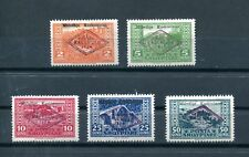 1924.ALBANIA.YVERT 130/34*.NUEVOS CON FIJASELLOS.(MH).CAT 75 €