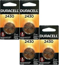 4 x Duracell Lithium CR2430 3V Coin Cell batteries DL2430 ERC2430 K2430L