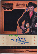 2014 PANINI COUNTRY MUSIC MATERIAL AUTO: JOHN RICH #/233 AUTOGRAPH SWATCH TRUMP