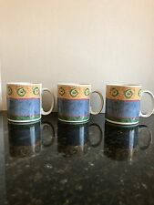 3 Sakura Coffee Mugs by Sue Zipkin - Malaga 1995