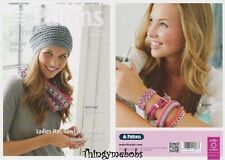 PATONS 4078 LADIES HAT/COWL/BRACELETS ORIGINAL CROCHET PATTERN - SUMMER COTTON
