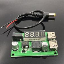 3A DC-DC Buck Converter 12V 24V 36V To 5V Dual USB Charger Step down Voltameter