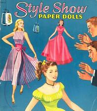 Vintge 1950S Style Show Paper Doll ~Beautiful Hd Laser Reproduction~Org Sz Uncut