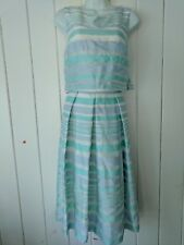 Cynthia Steffe Blue Striped Sheer Lined Dress Size 8