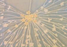 King Cotton Duvet Powder Blue And White Embroidered Center Yellow