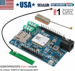 GSM GPRS GPS Module GSM/GPRS IPEX Antenna DC 5-9V Support Voice Short Message