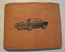 Mankind Wallets-Men's Tan Leather RFID Billfold-FREE 1966 Ford Mustang GT Image