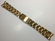 19MM SOLID HEAVY OYSTER WATCH GOLD BRACELET FOR ROLEX TUDOR BAND STRAP
