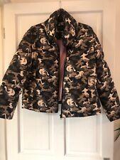 Army Print Bomber Jacket Size 10-12 Women