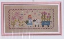 Lili au Jardin - sweet cross stitch chart - Jardin Prive