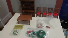 Vintage Dollhouse Miniature Dinning Room Furniture Set- In perfect condition