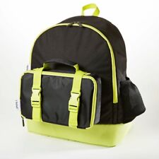 Fit & Fresh Backpack wi/ matching Lunch Bag reusable containers Black/Neon-NEW