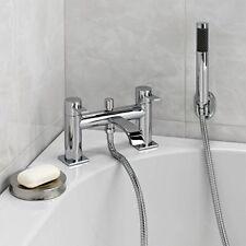 Enki Réservoir bain Robinet Mélangeur avec douche Courbé Designer Chromé Soho