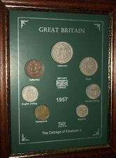 FRAMED 1957 COIN YEAR SET (RETRO 60th BIRTHDAY PRESENT WEDDING ANNIVERSARY GIFT)