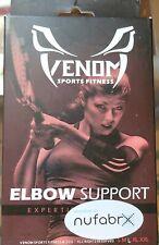 Venom Sports Large Compression Sleeve Elbow Support New Sealed  black