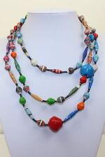 Collane e pendagli di bigiotteria perle multicolore